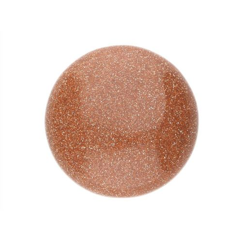 Gold sandstone (synthetic) / cabochon / round / 16x16x6mm / 1pcs