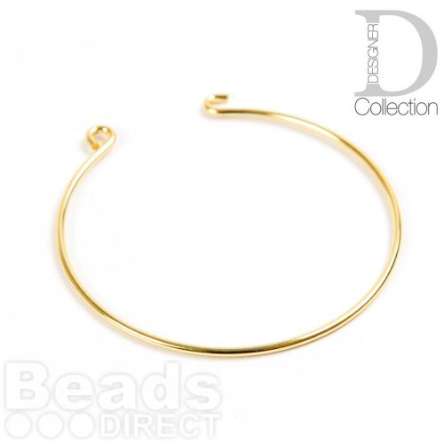 Gold Plated Brass Bangle Base With Hook and Eye 55mm Pk1