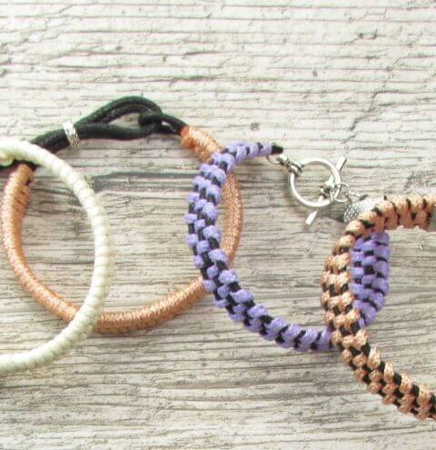 How to make braided bracelets from cord - jewellery making tutorial