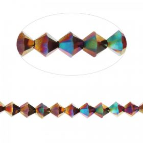 5328 Swarovski Crystal Bicone 6mm Crystal Rainbow Dark (2 Coat) Pk24