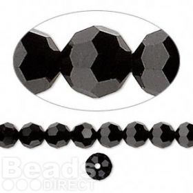 5000 Swarovski Crystal Faceted Rounds 6mm Jet Pk12