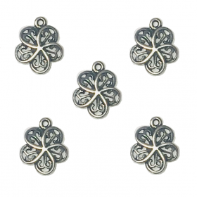 Gunmetal / Flower / pendant charms / 11x9mm / 5pcs