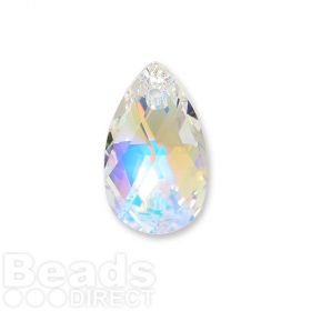 6106 Swarovski Drop Pendant 22mm Crystal AB Pk1