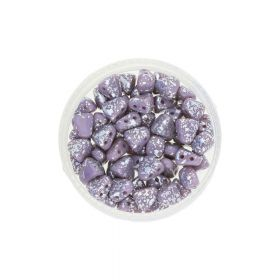 NIB-BIT™ / 6x5mm / Silver Splash Opaque / Amethyst / 5g / ~27pcs