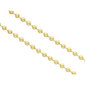 Ball chain / 2mm / gold / 1m
