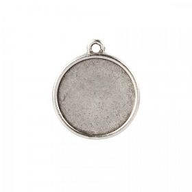 Nunn Design Antique Silver Charm Bezel Setting Round 23mm Pk1