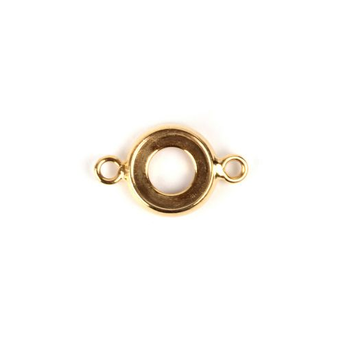 Gold Plated SS34/7mm Charm Connector Setting Pk2