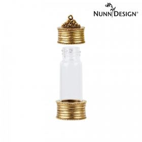 Nunn Design Antique Gold Glass Keepsake Bottle 20x50mm Pk1