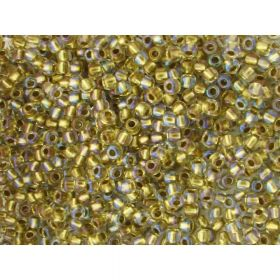 TOHO™ / Round 11/0 / Inside Colour Crystal / Gold Lined / 10g