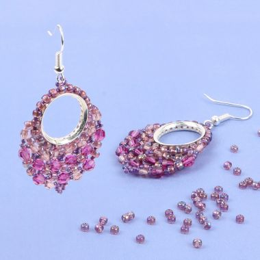 Fuchsia Pink Window Earrings