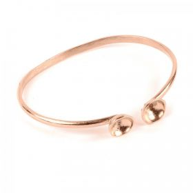 Rose Gold Plated Brass Bangle Base for SS39 60mm Pack 1