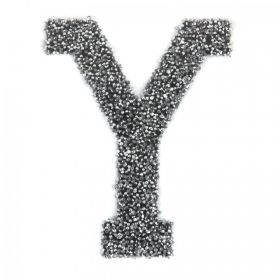 Swarovski Crystal Letter 'Y' Self-Adhesive Fabric-It Black CAL Pk1