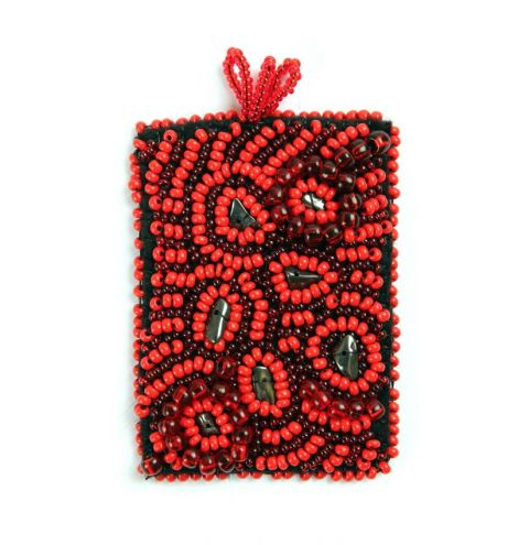 Seed Bead Embroidery Pendant