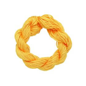 Mcord ™ / Macramé cord / nylon / 1.5mm / dark yellow / 13m