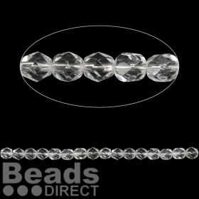 Czech Fire Polished 6mm Crystal Clear Pk100