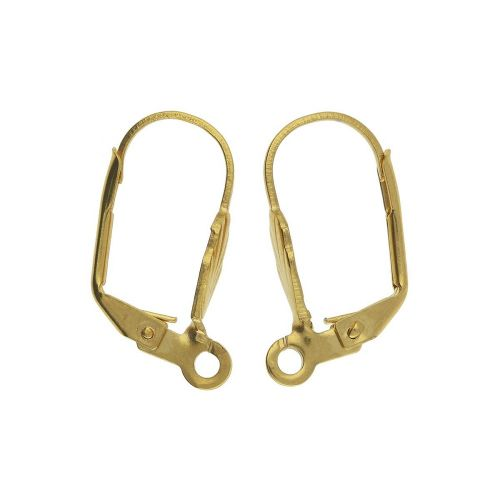 Earwires / lever back / surgical steel / 16x10x1.5mm / gold / loop 1.5mm / 2pcs