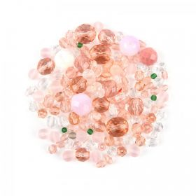 Preciosa Czech Glass Bead Mix Ballet Pink Tones 50g