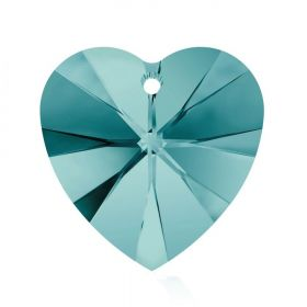 6228 Swarovski Crystal Hearts 10mm Blue Zircon Pk288