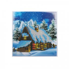 Beads Direct Snowy Cottage Crystal Card Kit