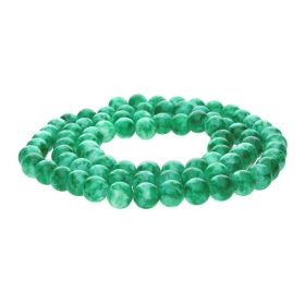 Candy™ / round / 12mm / green / 65pcs