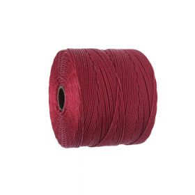 BEADSMITH ™ / thread SuperLon Fine / nylon / Tex 135 / Scarlet / 0.5mm / 108m