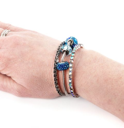 Shimmer Bracelet Stack made with Swarovski