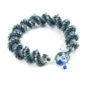 Blue Cellini Spiral Bracelet Kit