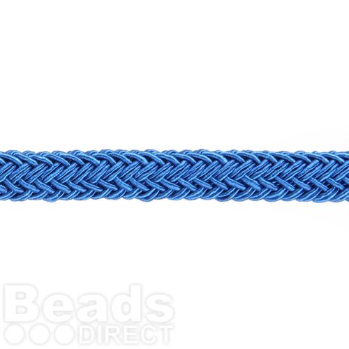 Royal Blue Polyester Braided Chunky Cord 8x10mm 1 Metre