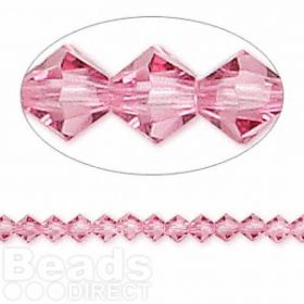 5328 Swarovski Crystal Bicones Xillion 4mm Rose Pk24