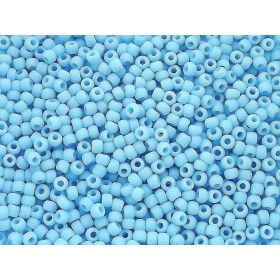 TOHO ™ / Round 8/0 / Opaque-Frosted / Blue Turquoise / 10g / ~ 300pcs