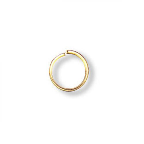 X Jumprings gold-plated 6mm. Pack of 100