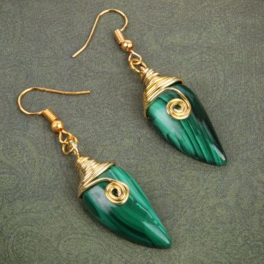 Nefertiti Malachite Earrings