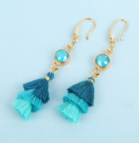 Azure Tassel Earrings