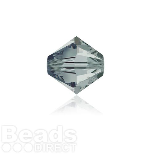 5328 Swarovski Crystal Bicones 4mm Black Diamond Pk1440