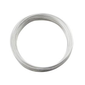 Memory wire / surgical steel / diameter 55mm / silver / wire 0.6mm / 40 loops