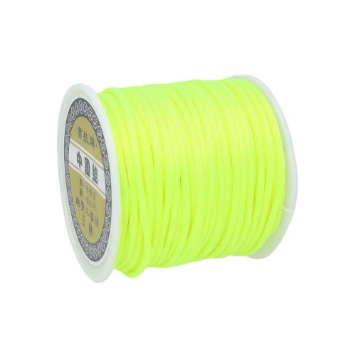 Satin Cord / 2mm / neon green / 30m
