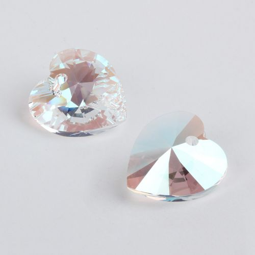 6228 Swarovski Crystal Heart 17.5x18mm Crystal Shimmer Pk1