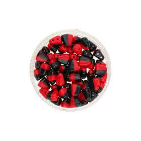 NIB-BIT™ / 6x5mm / Opaque / Red Black / 5g / ~27pcs