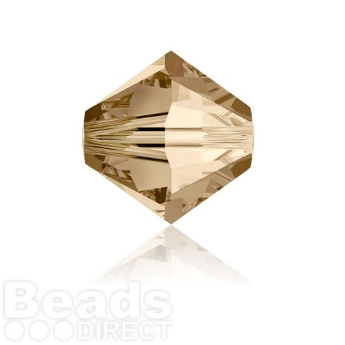 5328 Swarovski Crystal Bicones 6mm Crystal Golden Shadow Pk360