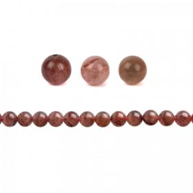 Strawberry Quartz Semi Precious Round Beads 10mm Pk10