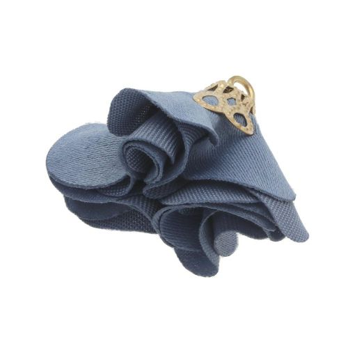 Satin Flower / with an openwork tip / 26mm / Gold Plated / steel / 2 pcs