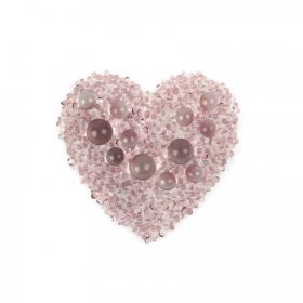 Swarovski Crystal Transfer Heart Antique Pink Galuchat Iron On Pk1