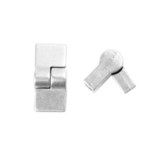 Antique Silver Magnetic Lock 17x12mm Pk1