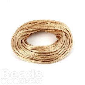 Beige 2mm Rattail Satin Cord 10metres