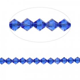 5328 Swarovski Crystal Bicone Beads 4mm Majestic Blue Pk24