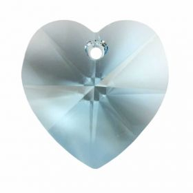 6228 Swarovski Crystal Heart 17.5x18mm Aquamarine Pk1