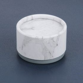 Marble and Grey Round Small Premium Jewellery Gift Box 3x4.5cm Pk1