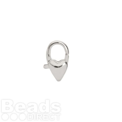 Titanium Plated Small Heart Lobster Clasp 11mm Pk1