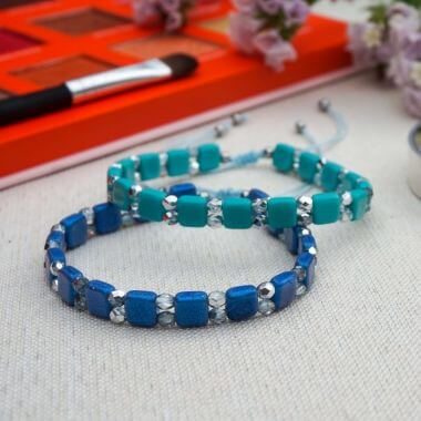 How to make a Tile Bead Bracelet - Jewellery Making Tutorial