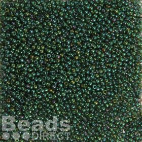 Toho Size 11 Round Seed Beads Gold-Lustered Emerald 10g